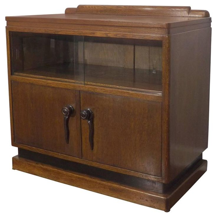 Art Deco Amsterdam School Dry Bar, circa 1920 | From a unique collection of antique and modern dry bars at https://www.1stdibs.com/furniture/storage-case-pieces/dry-bars/