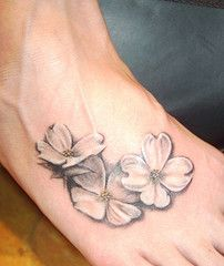 Dogwood flower tattoo