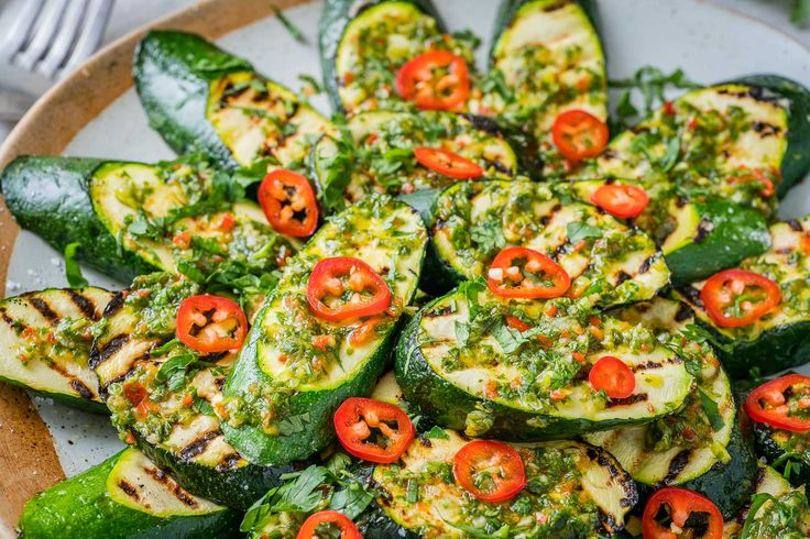 Fresh Grilled Zucchini with Chimichurri is a Summer Side Dish You'll LOVE! - Clean Food Crush