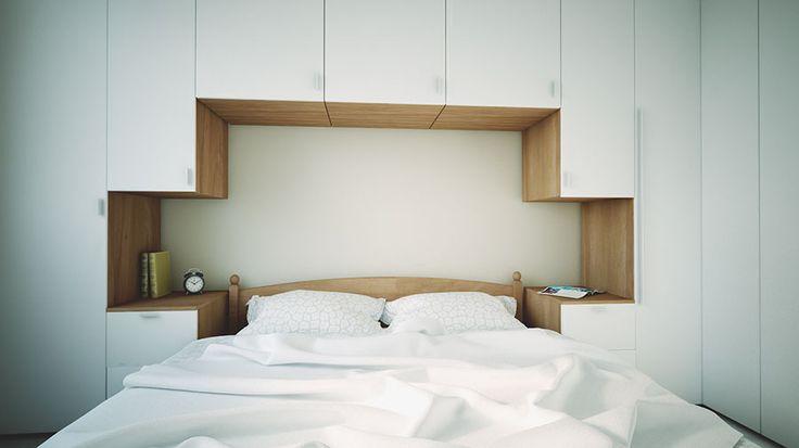 egyedi bútor  kis hálószobába, minden cm-t kihasználtunk