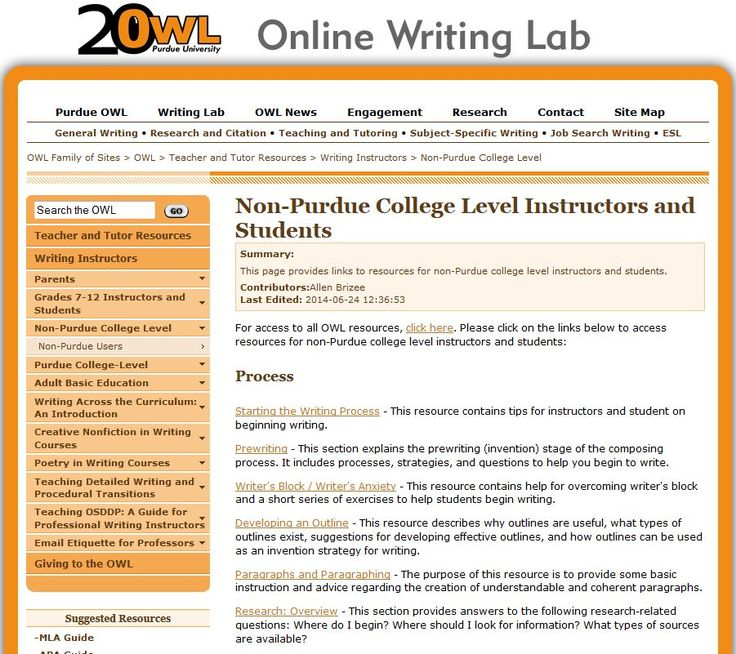 The online writing lab