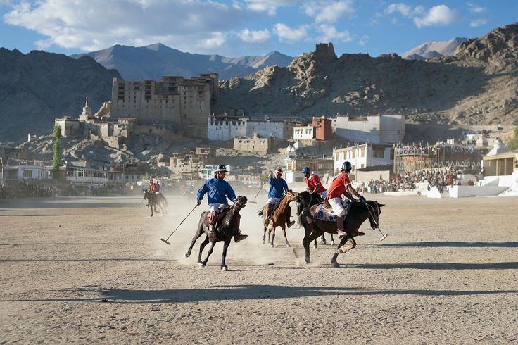 Watch polo in Ladakh: Believe it or not, polo has been a tradition in Ladakh for centuries! Watch professional teams from the villages of Ladakh square off at one of the world's highest and prettiest polo grounds.