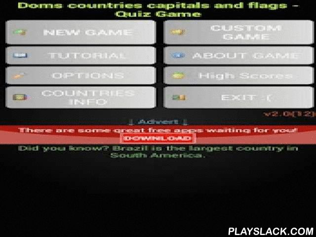 Country Capital Flag Quiz Game  Android App - playslack.com ,  do you like play quiz games ? trivia games ? countries of the world ? capitals of the world ? flags of the world ? 4 Pics 1 Word games ? quiz questions and answers ? pub quiz games ? trivia quizzes ? national knowledge quiz ? geography quiz ? If yes ,then this game is for you.this is doms countries , capitals , flags and regions (continents) trivia quiz game.It is action packed , fast paced , simple , fun to play and challenging…