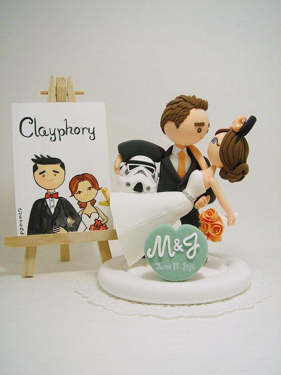 Star Wars And Disney Theme Custom Wedding Cake Topper