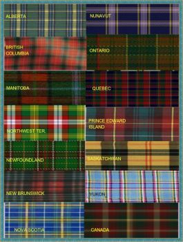 Canadian National & Provinsal Tartans updated (35 pieces)