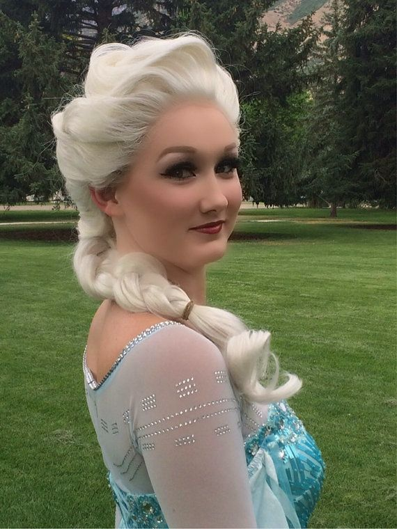 Elsa Frozen Lace Front PRO Princess Wig Screen Quality Custom Couture Styled