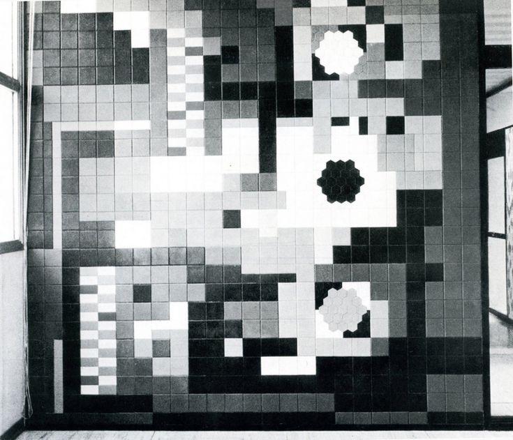 Marcello Nizzoli, pannello realizzato con elementi in Polistirolo per la palazzina per uffici della Mazzucchelli, Castiglione Olona.