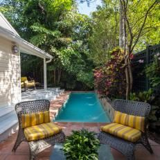 Side Yard Lap Pool with Patio