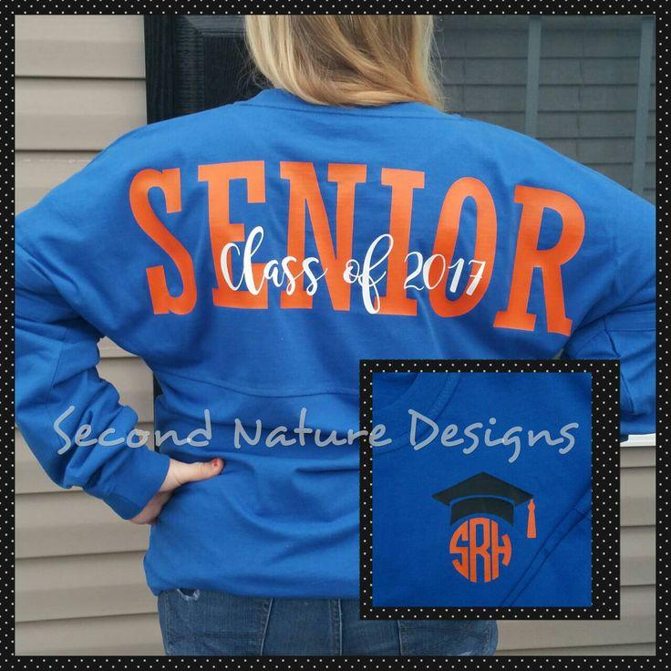 Long Sleeve High School Senior 2017 Jersey Shirt / College Senior 2017 Shirt by SecondNatureDesigns1 on Etsy https://www.etsy.com/listing/452030790/long-sleeve-high-school-senior-2017