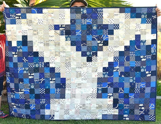 BYU Pixel Quilt by ericajackman, via Flickr--you could do this with the nittany lion and it would be SO COOL
