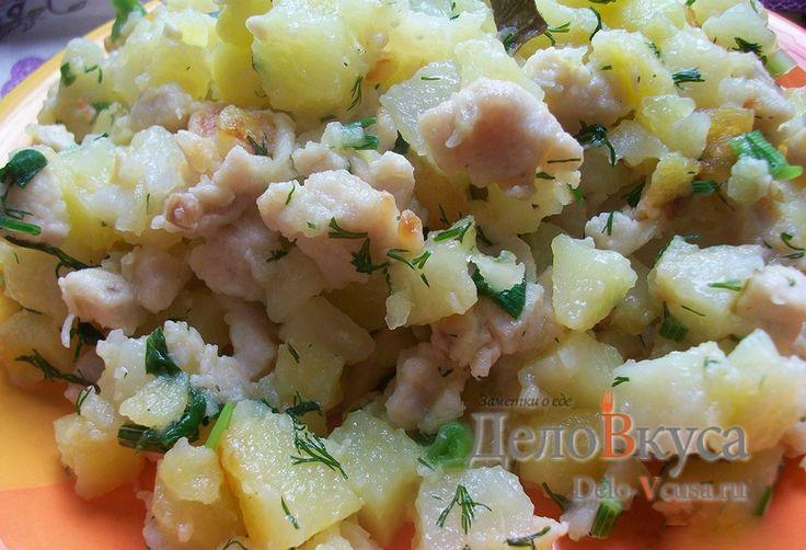 Жареная картошка с куриным филе #картошка #куриноефиле  #рецепты #деловкуса #готовимсделовкуса