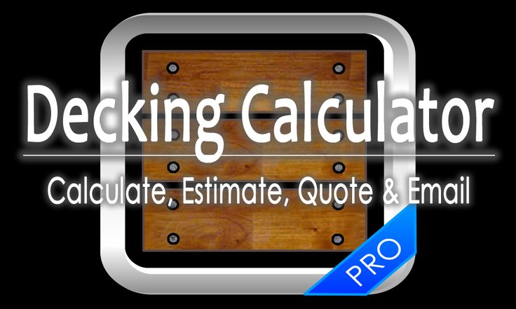 Decking Cost Estimator - The complete decking calculator for bearers, joists, posts, concrete and fixings for deck builders.
