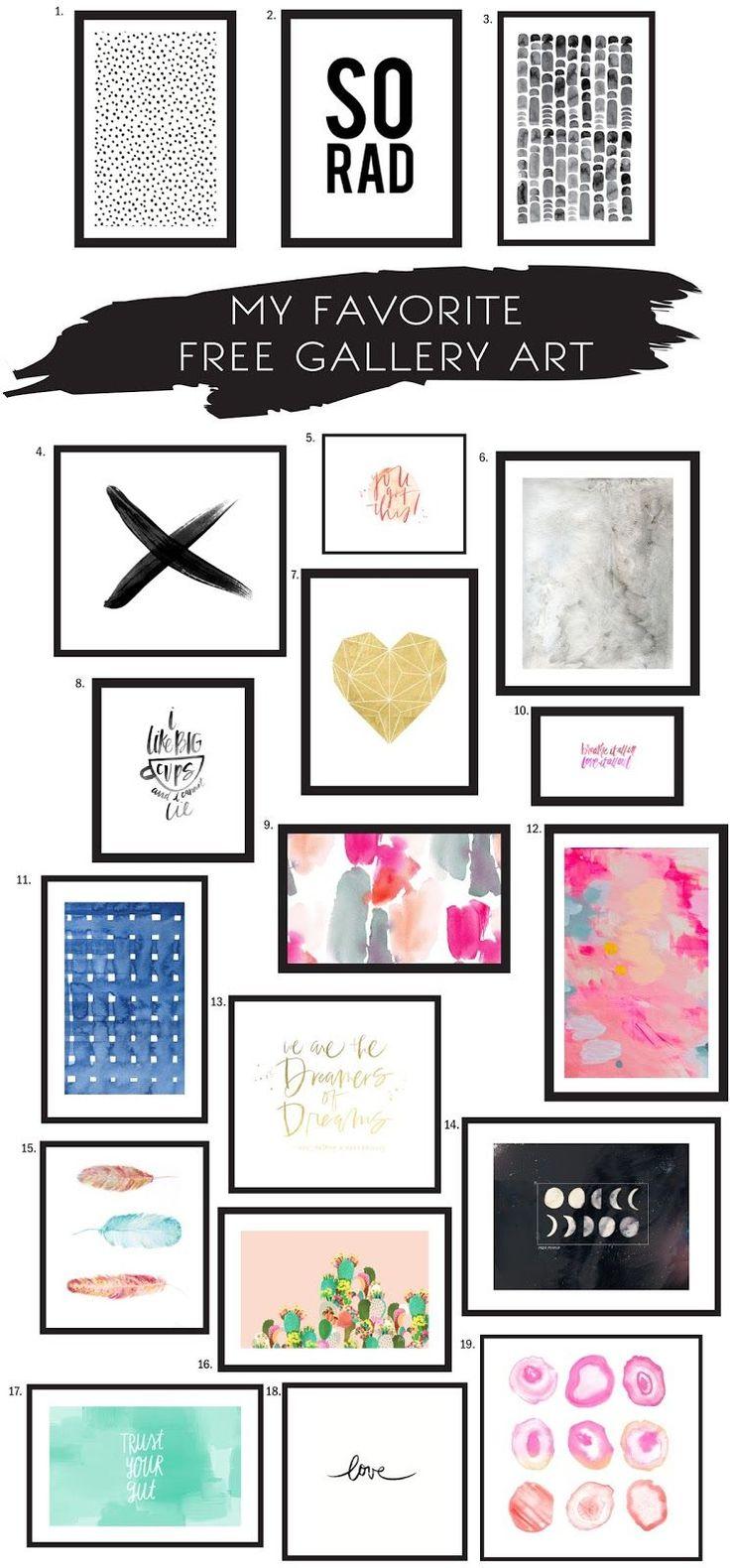 By Sophia Lee: MY FAVORITE FREE GALLERY ART