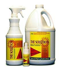 We use The Solution to keep our motorhome clean and shiny.  It's clear coat safe.