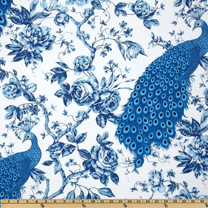 Peacock Blue And White Room