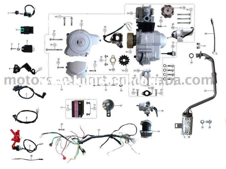 Chinese 125cc Engine Wiring Diagram And Coolster Cc Atv Parts Furthermore Cc Pit Bike Engine Pit Bike Bike Engine Motorcycle Wiring