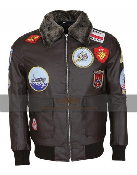 Tom Cruise Top Gun Aviator Flight Navy Brown Leather  Jacket now latest offer in UK best sales and special discount offer