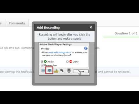 Schoology Quizzes – Audio Recording Tool – YouTube