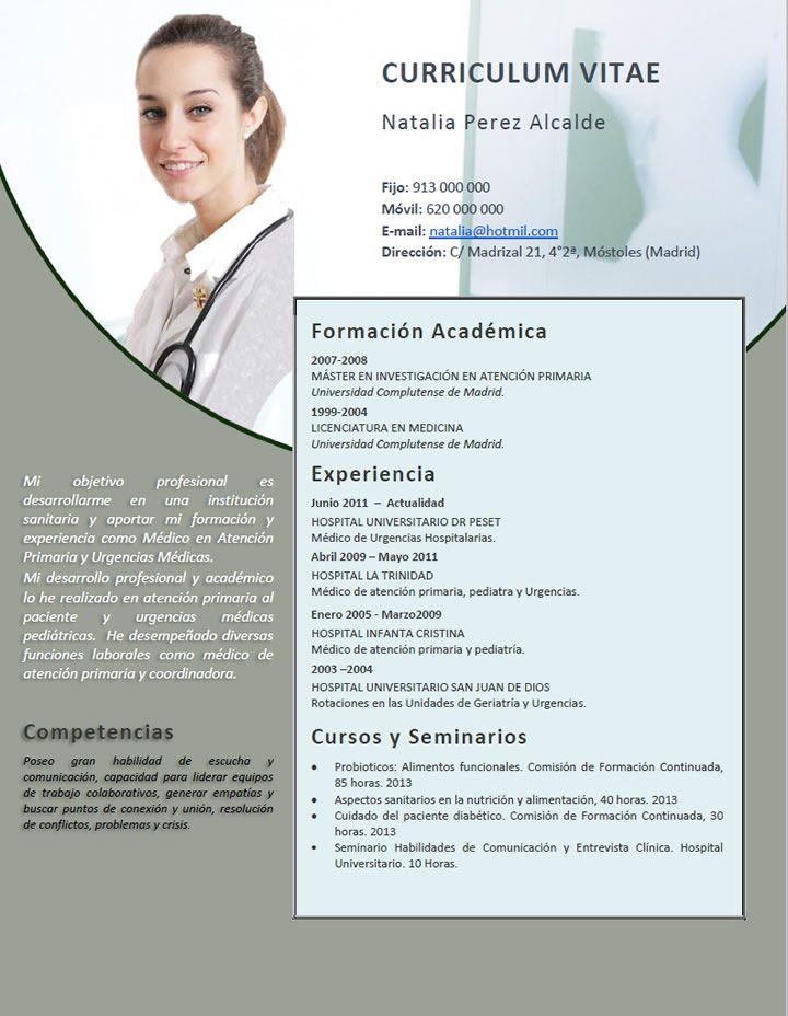 Curriculum Para Medicos Creamos Curriculums Especiales Para