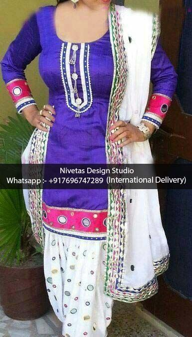 #Salwar Suit - whatsapp +917696747289 International Delivery visit us at https://www.facebook.com/punjabisboutique We do custom suits to match your requirements. We can work together to create stunning Indian outfits especially to match wedding colors, dazzle for a party or any other special occassions. I will create a custom order for you based on your requirements. #Punjabisalwarsuits, #lehengas, #replicaoutfits, #sareesblouses , #bridalwearsuits, #patialasalwarsuits, #anarkalissuits…
