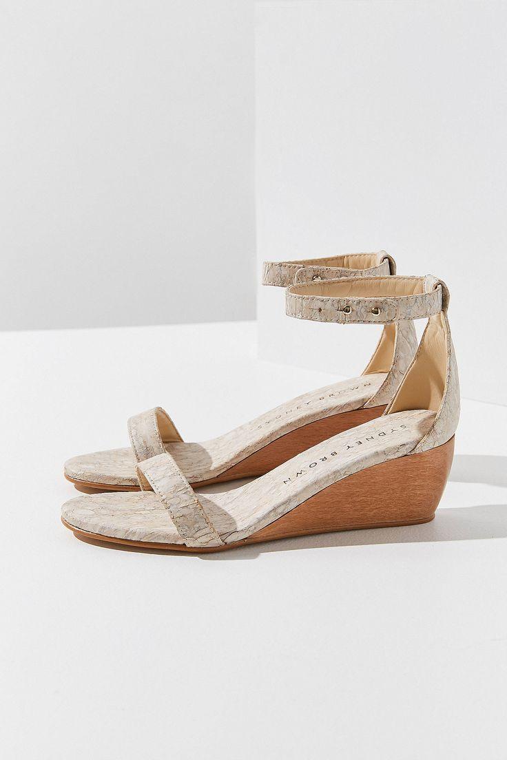 Sydney Brown Vegan Wedge Sandal | Urban Outfitters
