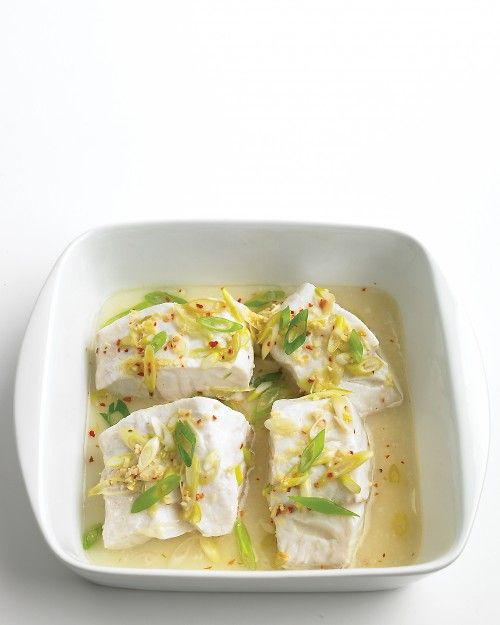 Steamed Cod with Ginger - Fish is a great source of lean protein for people watching their weight or following a diabetic diet.