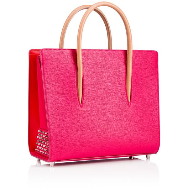 Paloma Medium Tote Bag  Rosa Calfskin (£1,675) ❤ liked on Polyvore featuring bags, handbags, tote bags, pink handbags, pink tote bags, handbags totes, purse tote and structured tote bag