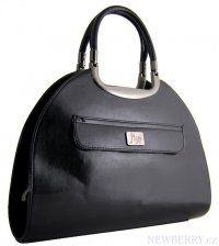 Černá luxusní kabelka do ruky 505-MH