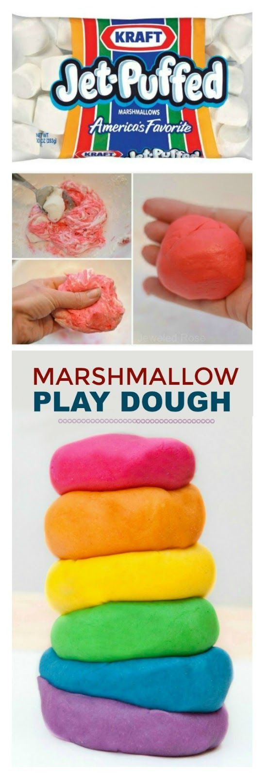 MAKE PLAY DOUGH FROM MARSHMALLOWS- this stuff is amazing!