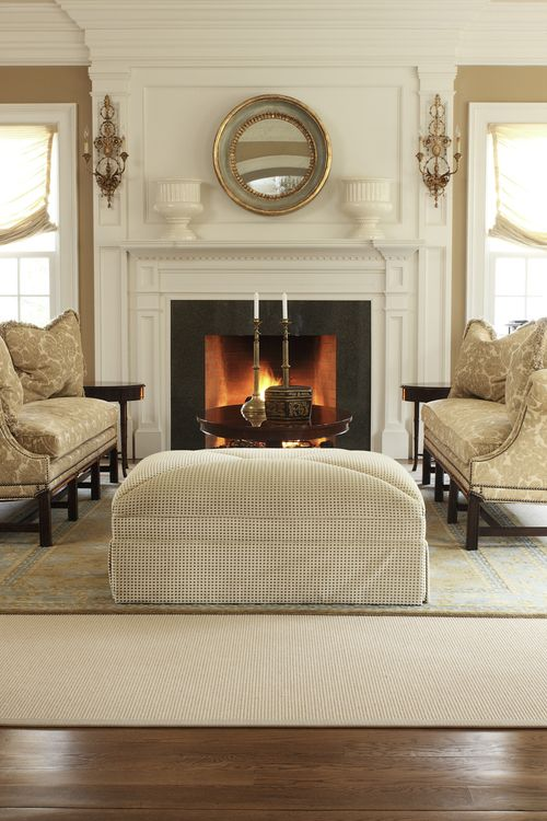 neutral living old with new home pinterest wood trim fireplaces and to find out. Black Bedroom Furniture Sets. Home Design Ideas