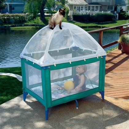 Tots in Mind Playard Tent design helps prevent injuries from falls, unattended wandering, helps keep playard from tipping, while keeping children and their belongings in the playard and unwanted visitors such as the family pet- out.