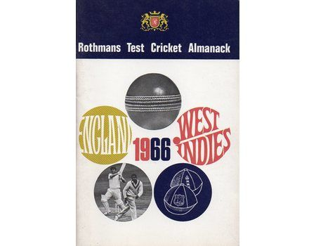 ROTHMANS TEST CRICKET ALMANACK: 1966 ENGLAND – WEST INDIES