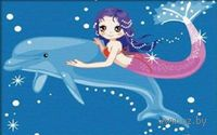 Картина по номерам `Дельфин и русалка` (200x300 мм; арт. МС031)
