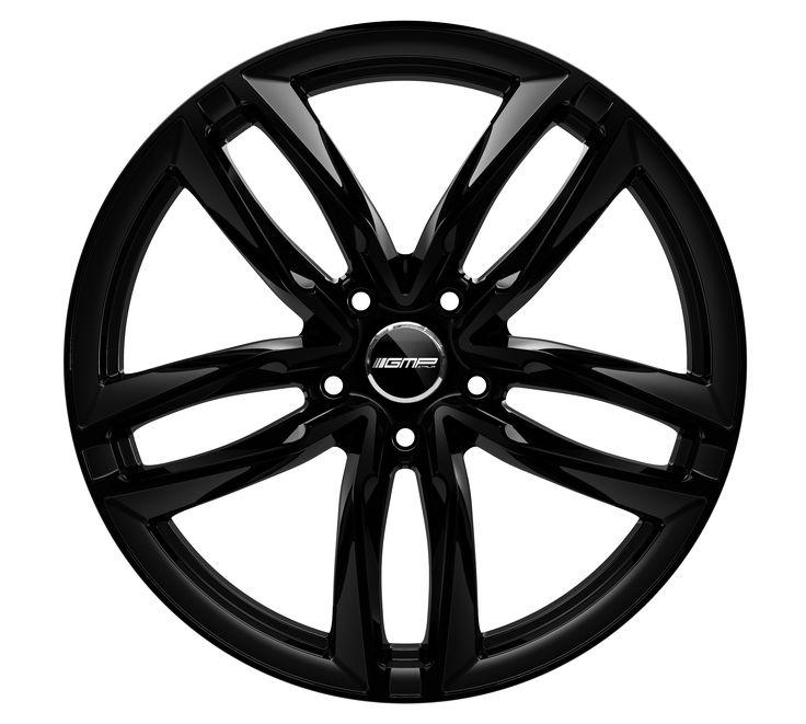 Atom Glossy Black Alloy wheel / Cerchio in lega leggera Atom Nero lucido Front