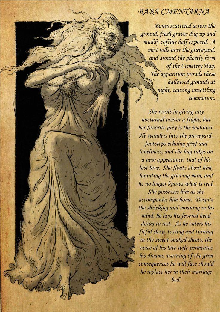 cementary hag baba cmentarna slavic culture folklore legends