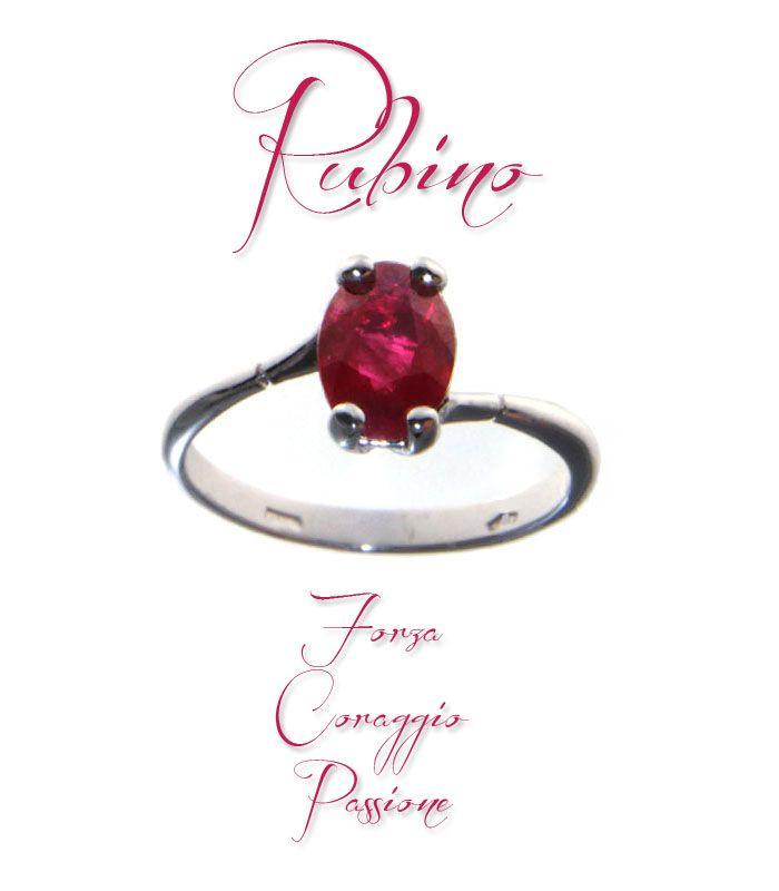 #Anello in oro bianco con #rubino http://www.gioielloitaliano.net/anelli/oro/bianco/anello-in-oro-bianco-con-rubino.html  #forza #coraggio #passione