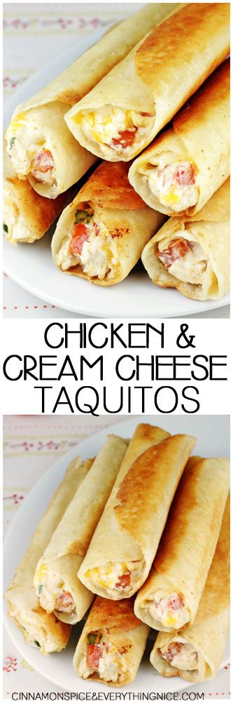 chubby chicken and cream cheese taquitos low carb tortillas creamy ...