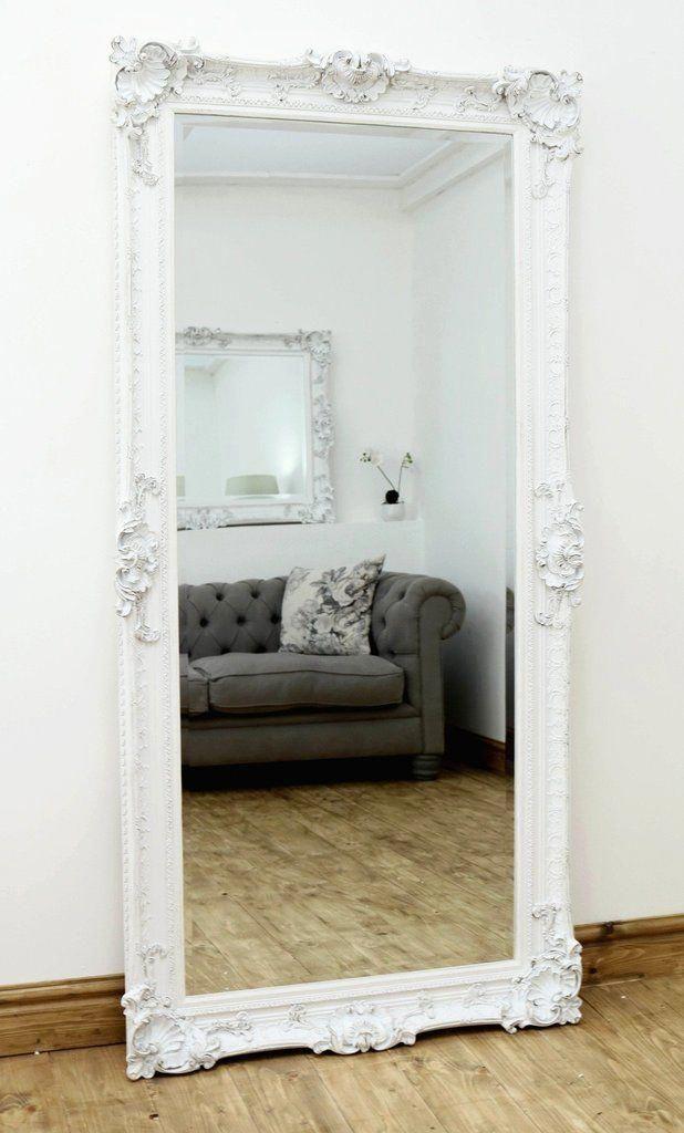 Pin On Bedroom Mirror, White Shabby Chic Full Length Wall Mirror