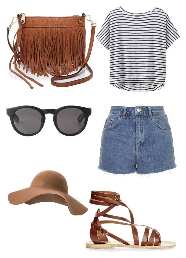 Outfit #2 by dianatairum on Polyvore featuring Athleta, Topshop, Ancient Greek Sandals, Rebecca Minkoff, Monki and MANGO