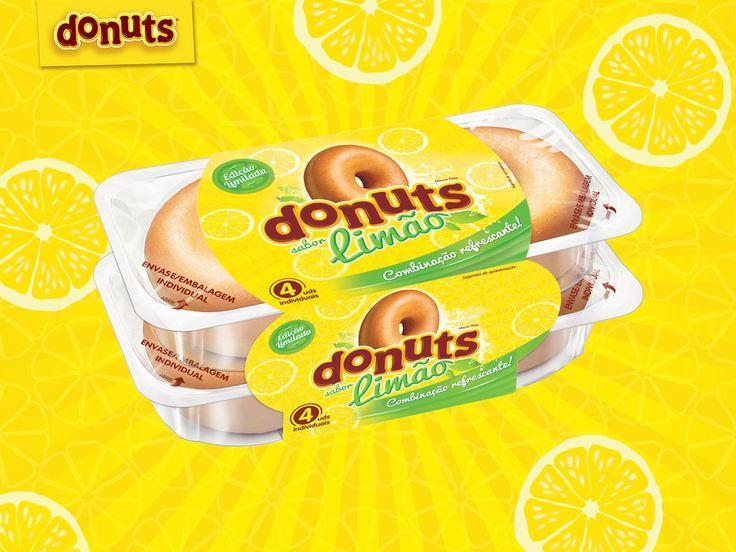 Nova edição de Donuts sabor limão, um sabor refrescante para as tardes quentes de verão!