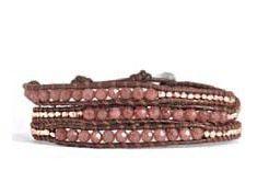 Wrapz® jade lederen wrap armband - Wrap armbanden