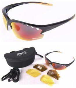 Rapid Eyewear Expert Black Polarised Sunglasses for Sport, With Interchangeable Lenses