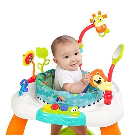 Bright Starts Bounce Baby Jumper Activity Entertainer New Deluxe Spring Seat  #BrightStarts
