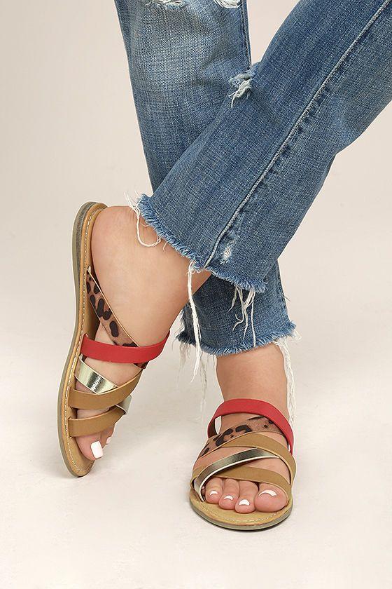 Angelique Leopard Print Sandals 2