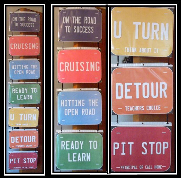 My License Plate Behavior Clip Chart Travel Theme Terrific