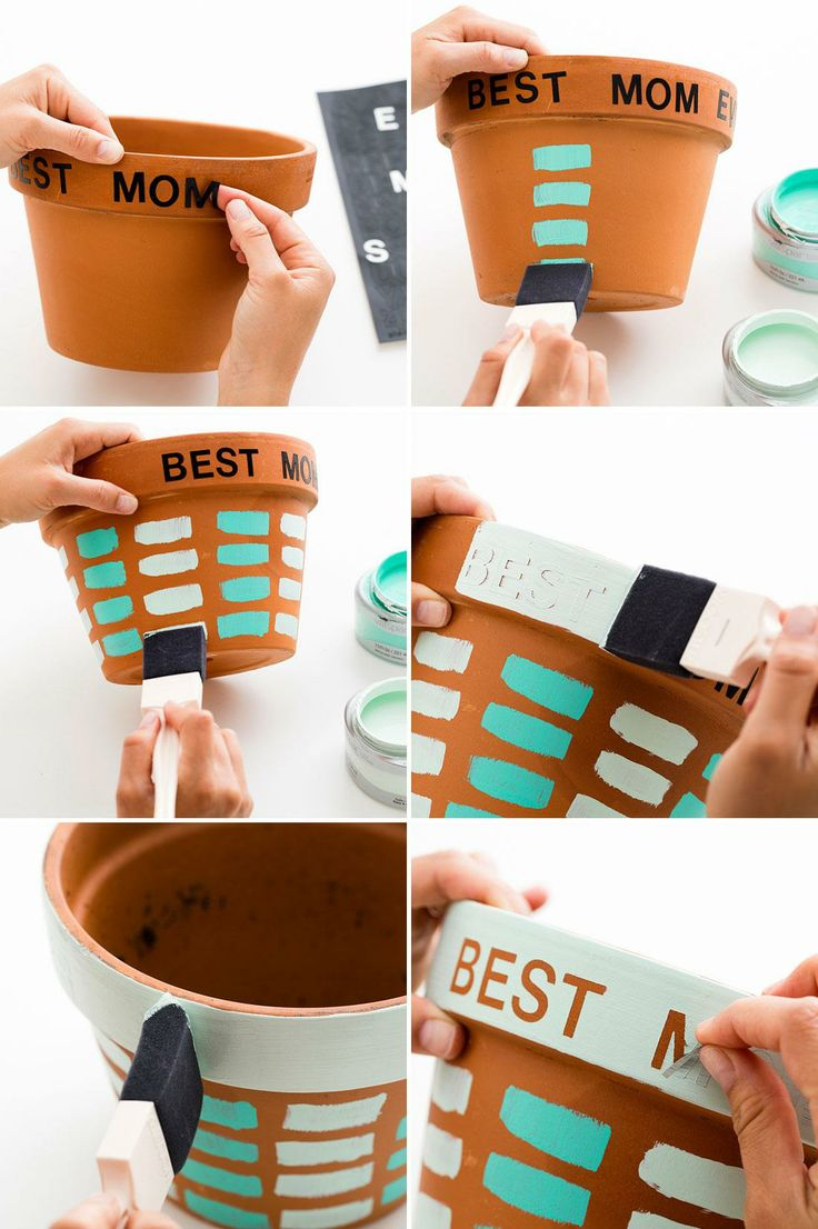 3 modern diy planters to gift mom on mother s day Mothers day presents diy
