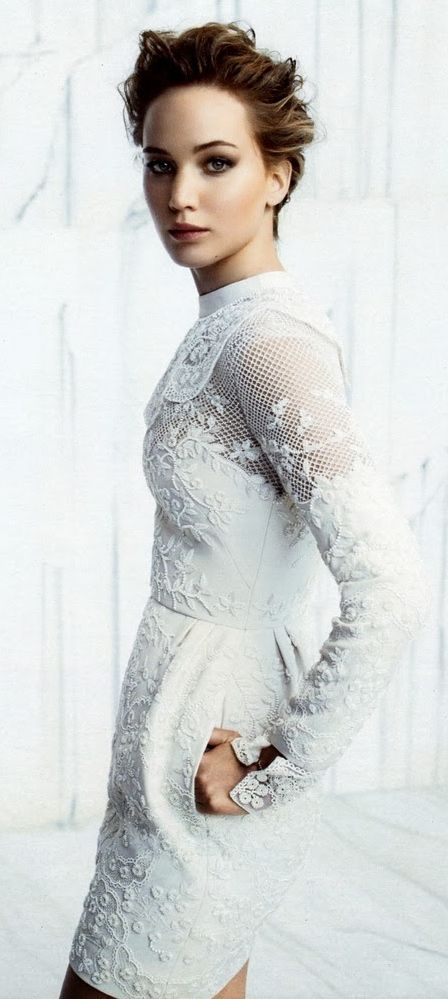 Jennifer Lawrence, wearing Valentino, by Michelangelo Di Battista for Instyle US December 2013