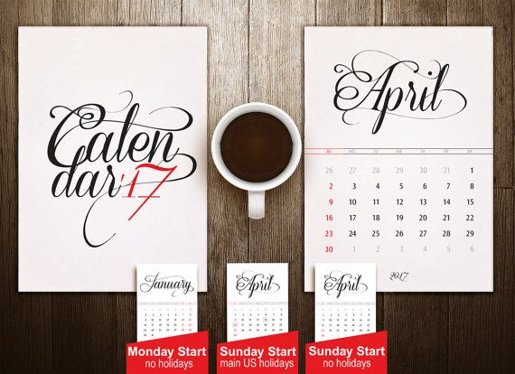 5x7 Minimalist calendar, Classic typography, Minimal desk calendar, desktop calendar, Typography, Clean calendar, Simple calendar, Printable