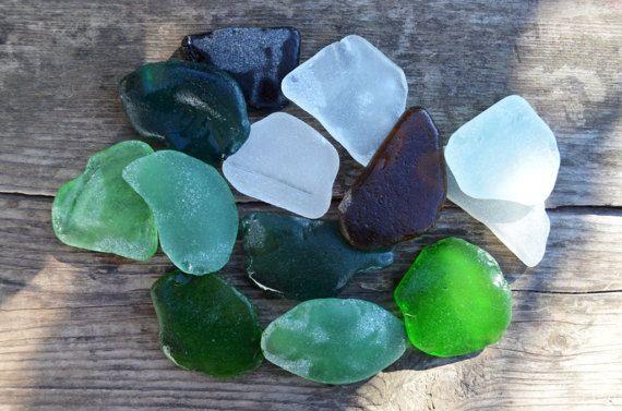 Medium to Large Sea Glass mix Colored Sea glass Bulk Craft Supply Authentic Sea glass for sale Home decor Sea glass Vintage DIY sea supply