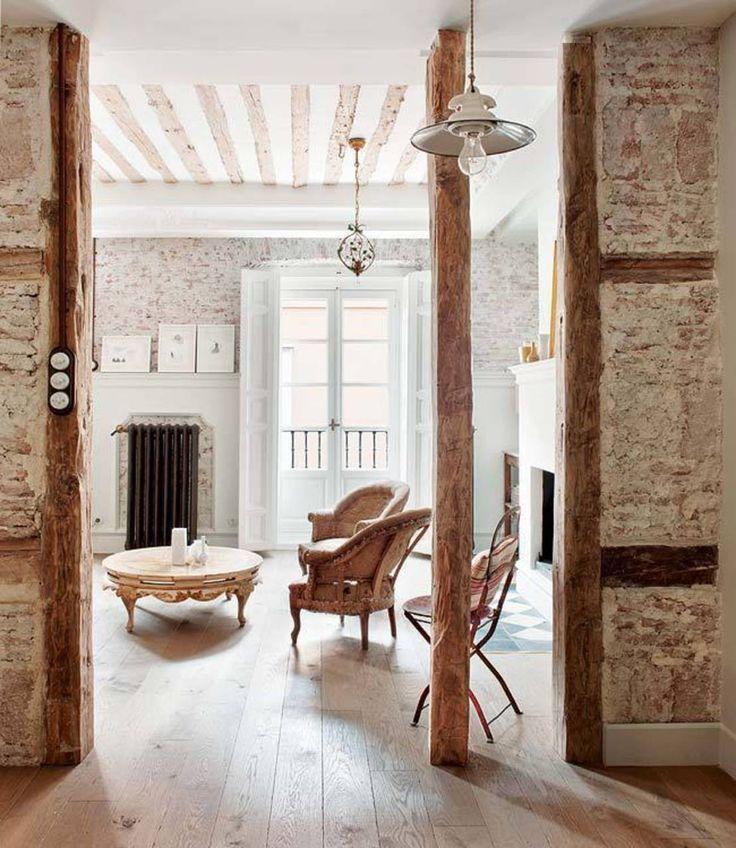Gestaltungsideen mit unverputzten Wänden